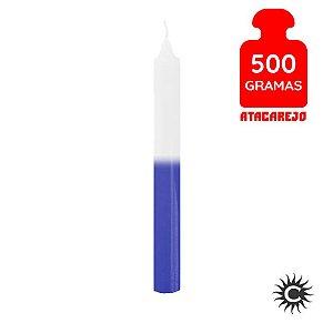 Vela - Palito - 500G - Branca e Azul