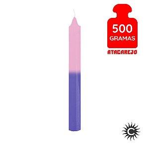 Vela - Palito - 500G - Rosa e Azul