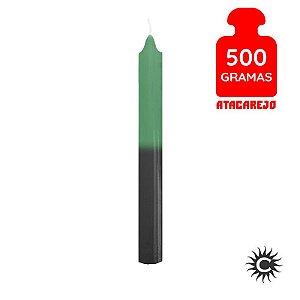 Vela - Palito - 500G - Verde e Preta