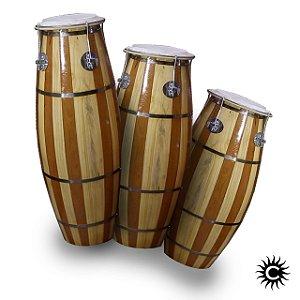 Atabaque - Paulinho - Trio - Jogo - 3 peças