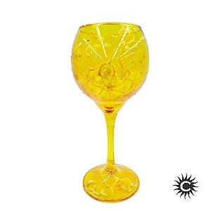 Taça de Luxo Amarela - Dourado sobre Amarelo
