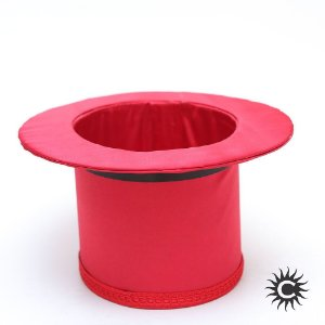 Cartola - Luxo - Alta - Cetim - Vermelha