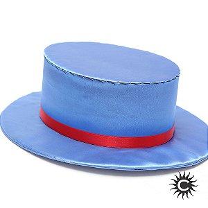 Cartola - Luxo - Baixa - Veludo - Azul