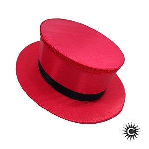 Cartola - Luxo - Baixa - Cetim - Vermelha