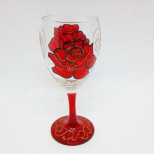 Taça - Rosa Vermelha Grande