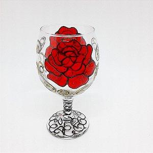 Taça - Rosa Vermelha/Preta