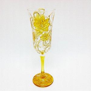 Taça - Flores Amarelas