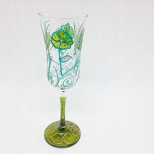 Taça - Flor Verde