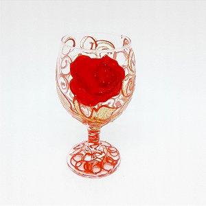 Taça - Flor Vermelha