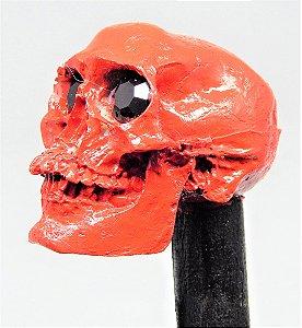 Bengala - Caveira Vermelha Resina