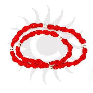 Brajá - Vermelho  com Caveira 7 Fios