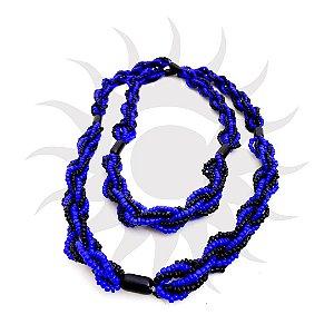 Brajá - 6 Fios - Opaco - Preto e Azul