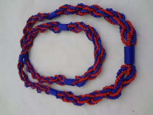 Brajá - Vermelho e Azul 7 Fios