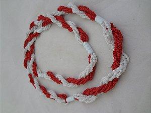 Brajá - Branco e Vermelho 7 Fios
