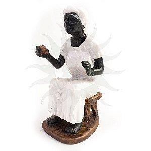 Imagem - Preta Velha Para Batismo 20CM Gesso