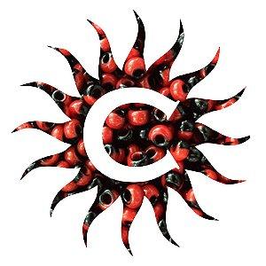 Missanga - Rajada Vermelho/preto 100 g