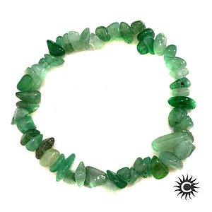 Pulseira - Pedra Cascalho de Quartzo Verde