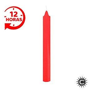 Vela - 12 horas - Vermelho