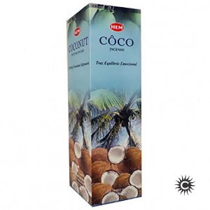 Incenso Hem - COCO  - BOX com 25 caixas