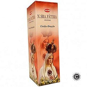 Incenso Hem - NOSSA SENHORA DE FÁTIMA  - BOX com 25 caixas