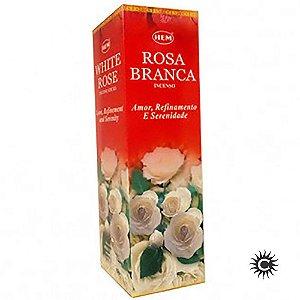 Incenso Hem - ROSA BRANCA  - BOX com 25 caixas