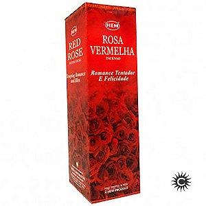 Incenso Hem - ROSA VERMELHA  - BOX com 25 caixas