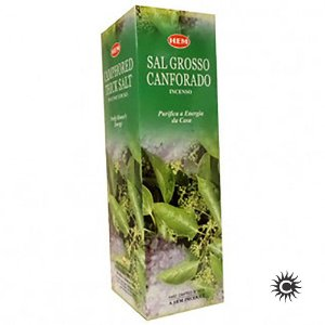 Incenso Hem - SAL GROSSO CANFORADO  - BOX com 25 caixas