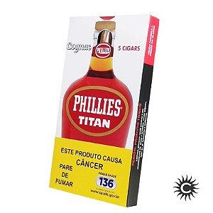 Charuto - PHILLIES Titan Conhaque 5 Unidades