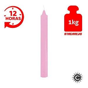 Vela - 12 horas - Kilo - Rosa