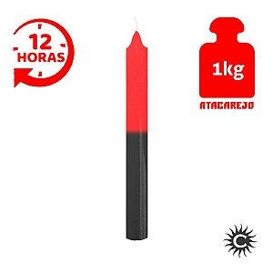 Vela - 12 horas - Kilo - Vermelha e Preta