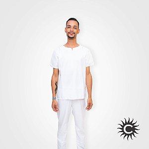 Conjunto Micro Fibra - Branco Masculino | Tamanho P