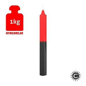 Vela - Palito - Kilo - Vermelha e Preta