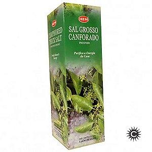 Incenso - HEM - BOX com 25 caixas - SAL GROSSO CANFORADO