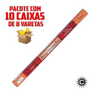 Incenso - VINATI - PAC com 10 caixinhas - ROSA VERMELHA