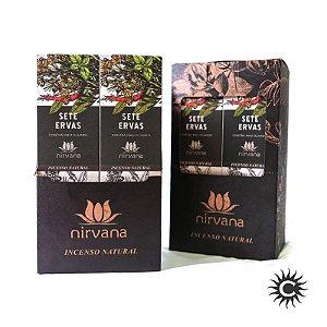 Incenso - Natural Nirvana Caixa com 12 - 7 Ervas