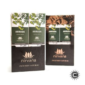 Incenso - Natural Nirvana Caixa com 12 - Arruda