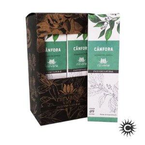 Incenso - Natural Nirvana Caixa com 12 - Cânfora