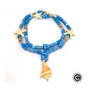 Guia de Murano - Pingente - Iemanjá  - Azul