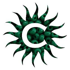 Missanga - Leitosa - 100g - Verde