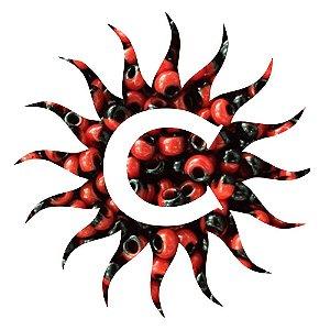 Missanga - Rajada - 100g - Vermelho e Preta