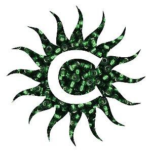 Missanga - Cristal - 500g - Verde