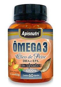Ômega 3 DHA e EPA 1000mg - 60 Cápsulas