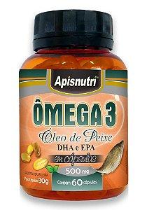 ômega 3 DHA e EPA 500mg - 60 Cápsulas
