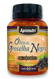Óleo de Groselha Negra 500mg - 60 Cápsulas