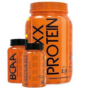 Maxx Protein (900g) + Bcaa (120 Tablets) + Glutamina (150g)