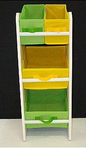 Mini Organizador de Brinquedo VERDE/AMAR Montessoriano