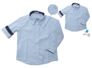 Kit camisa Guido - Tal pai, tal filho (duas peças) | Azul