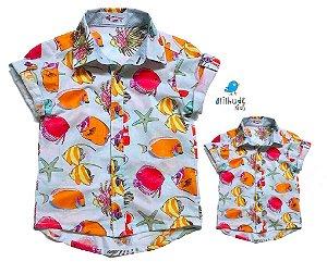 Kit camisa Vavá - Tal Pai, tal filho (duas peças) | Fundo do Mar