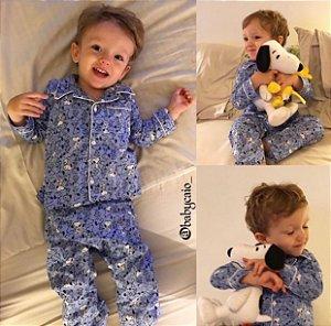 Pijama do Snoopy  - Azul