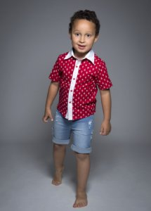 Camisa Guillermo - Estampa âncora | Vermelho